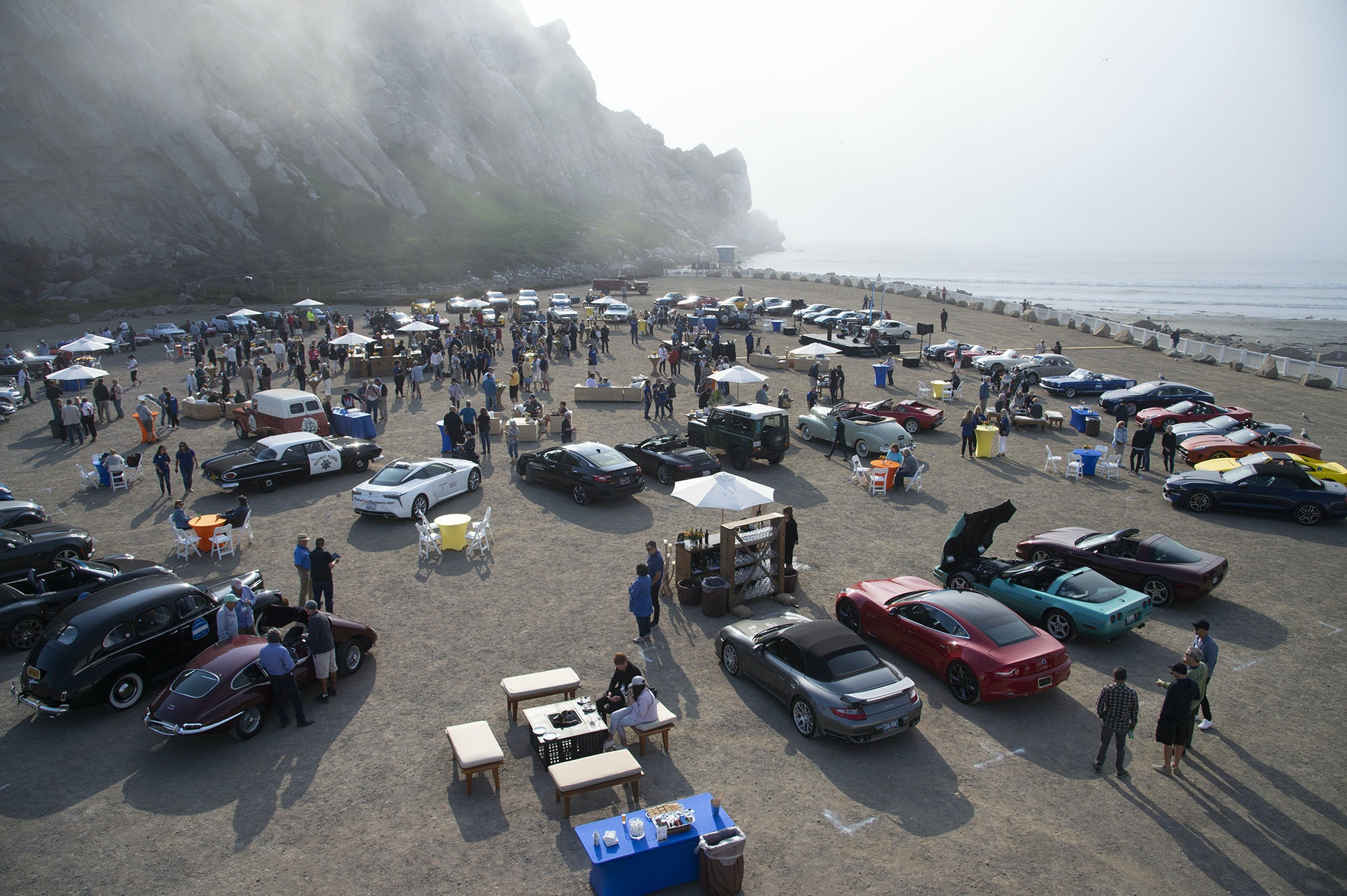 All 80 cars made it to the finish line at Morro Rock.