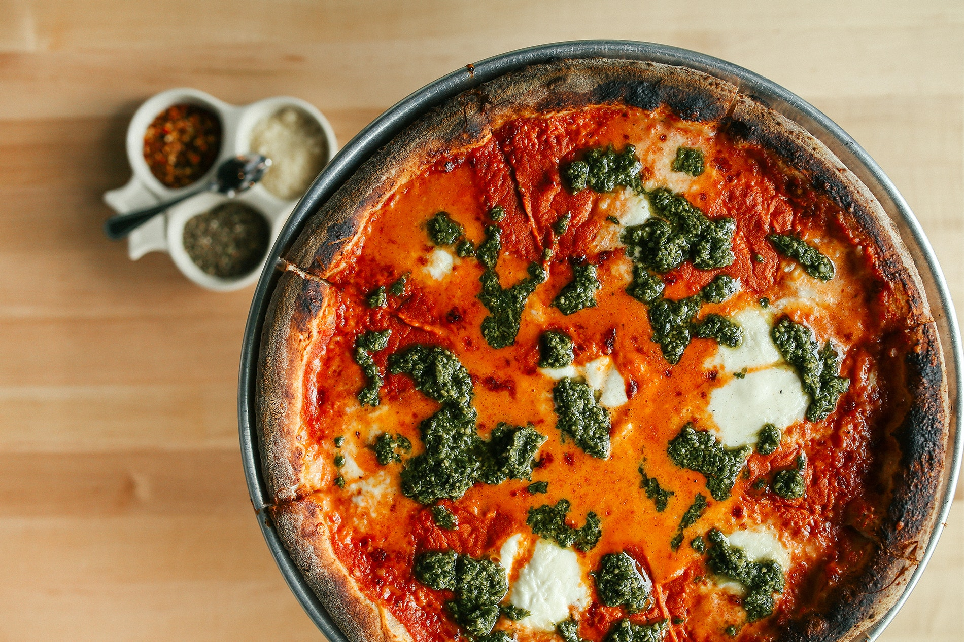 Lincoln Park's Pizzeria Bebu turns out uniformly crispy and perfectly charred pies every time.