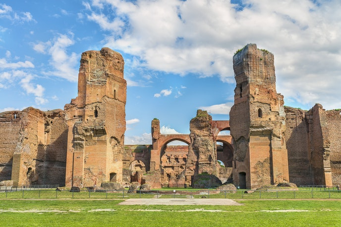 Rome's opera uses the Baths of Caracalla as an outdoor theater location in the summer.