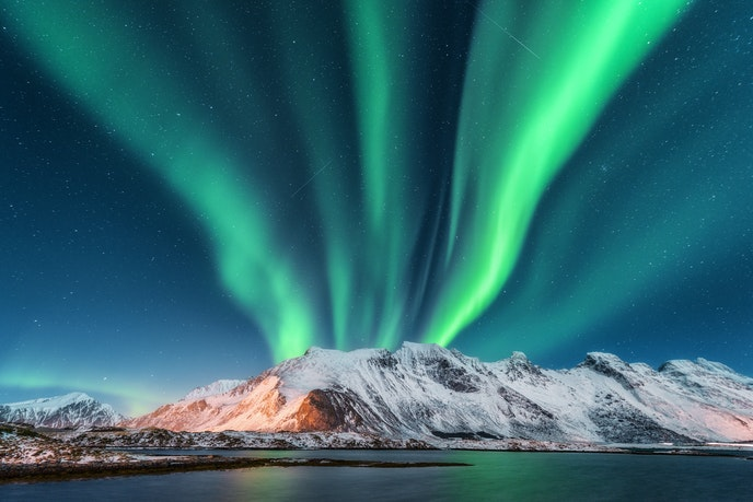 Norway's long and dark winter nights provide clear skies for optimal aurora viewing.