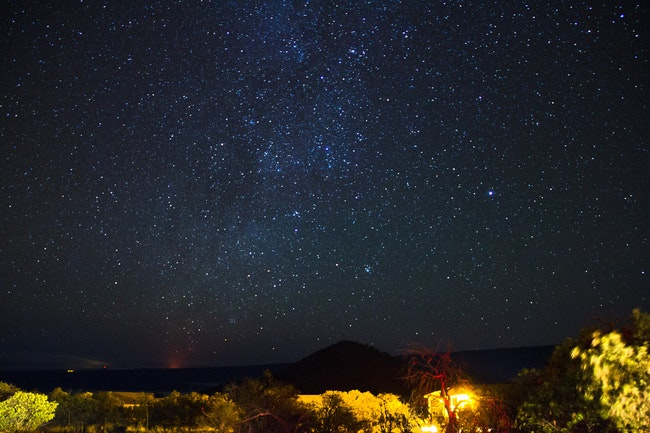 Stars as seen from the Visitor Information Station on Mauna Kea