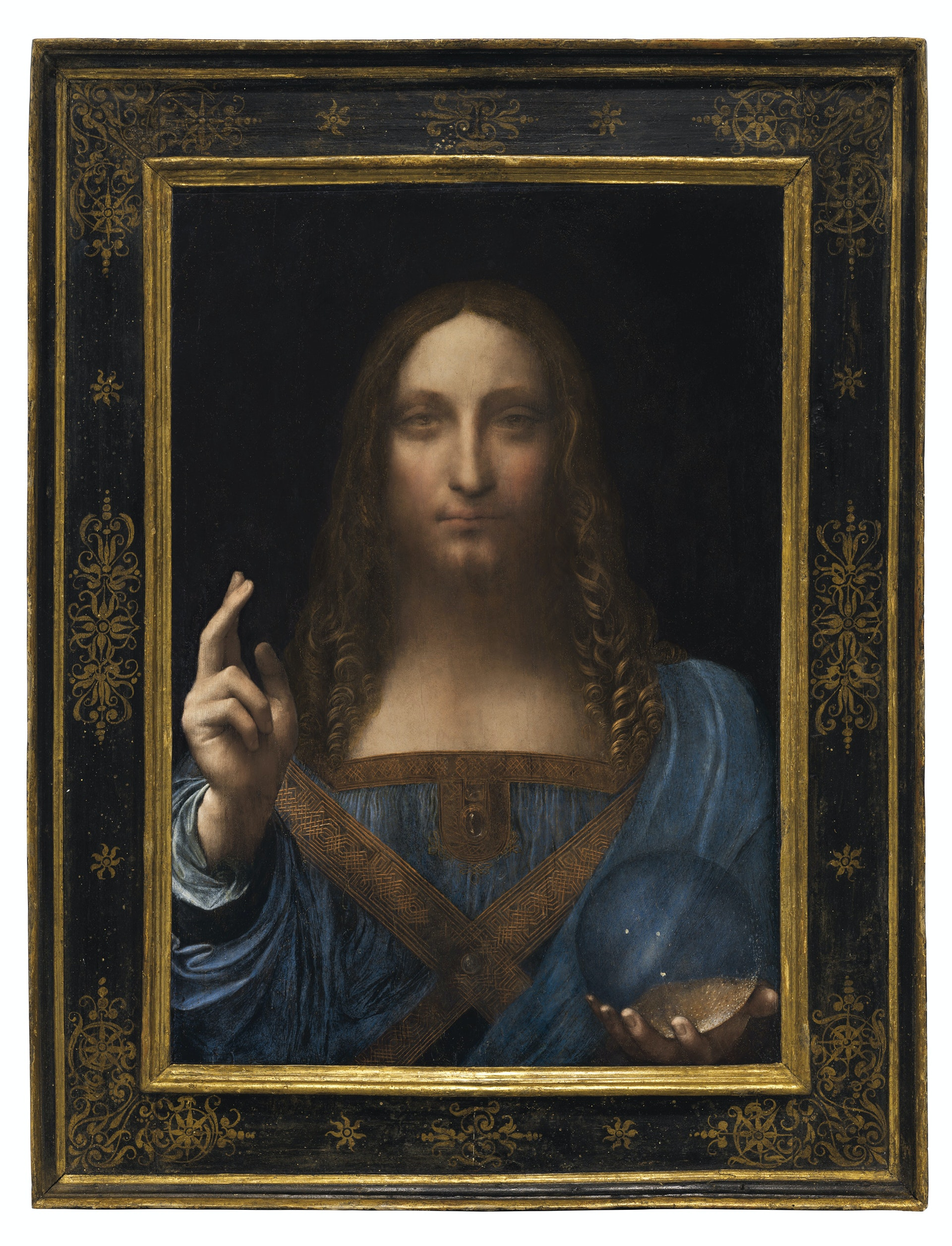 "Leonardo da Vinci's ""Salvator Mundi"" crosses the auction block in New York on November 15."