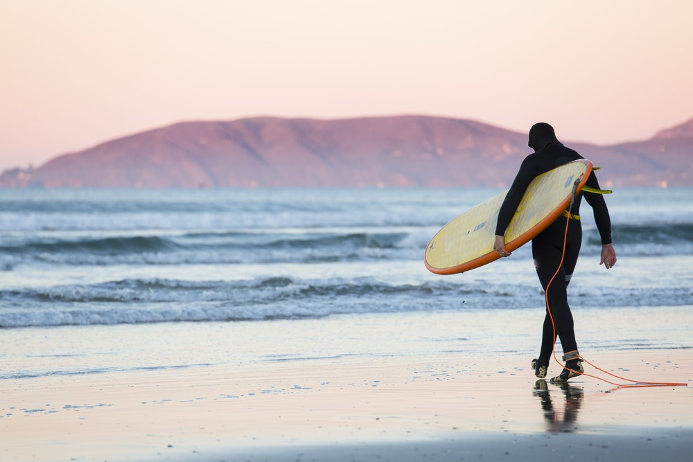 Pismo Beach is another spot along Highway 1 with great surfing.