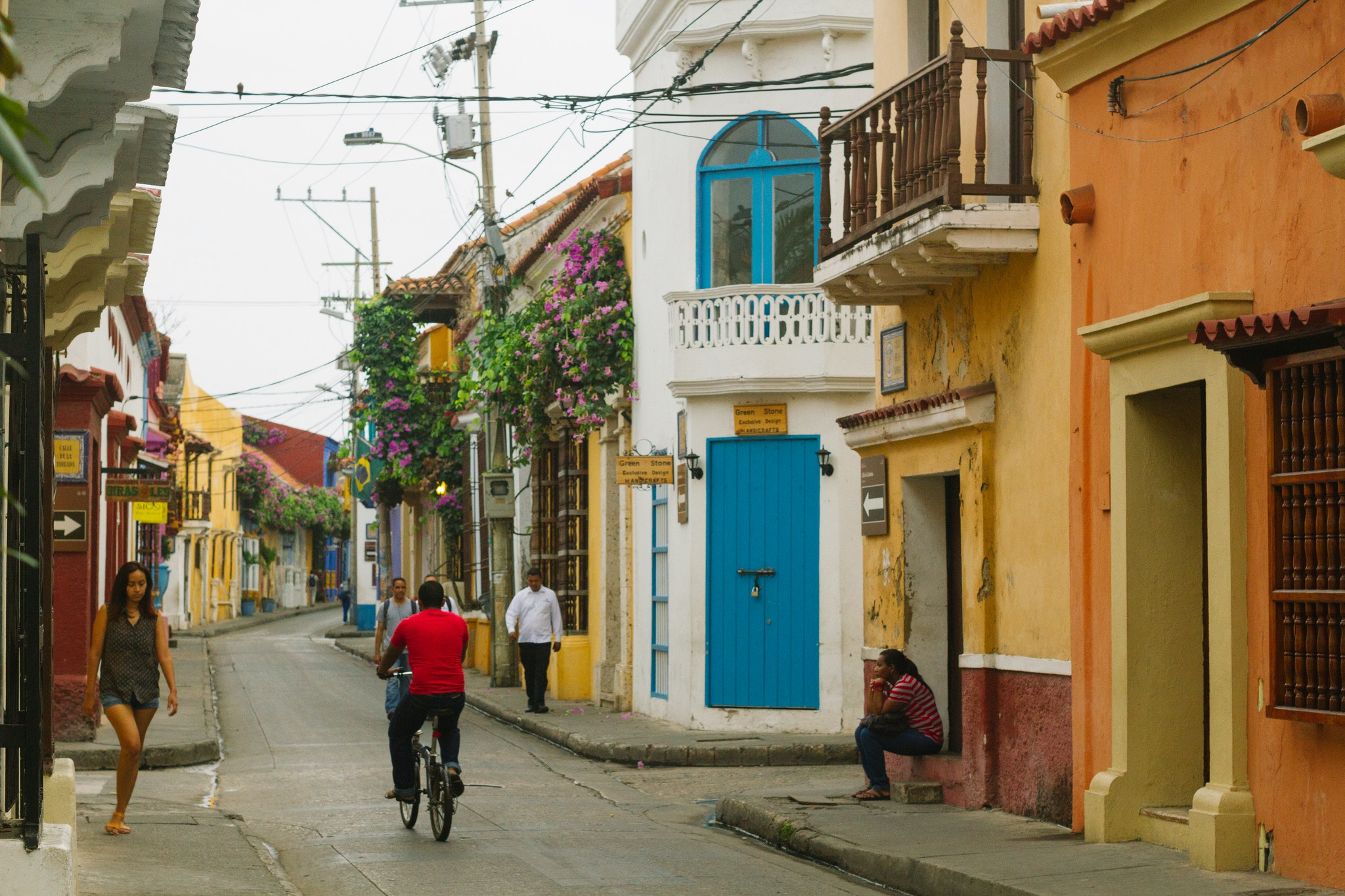 Colorful homes in Cartagena
