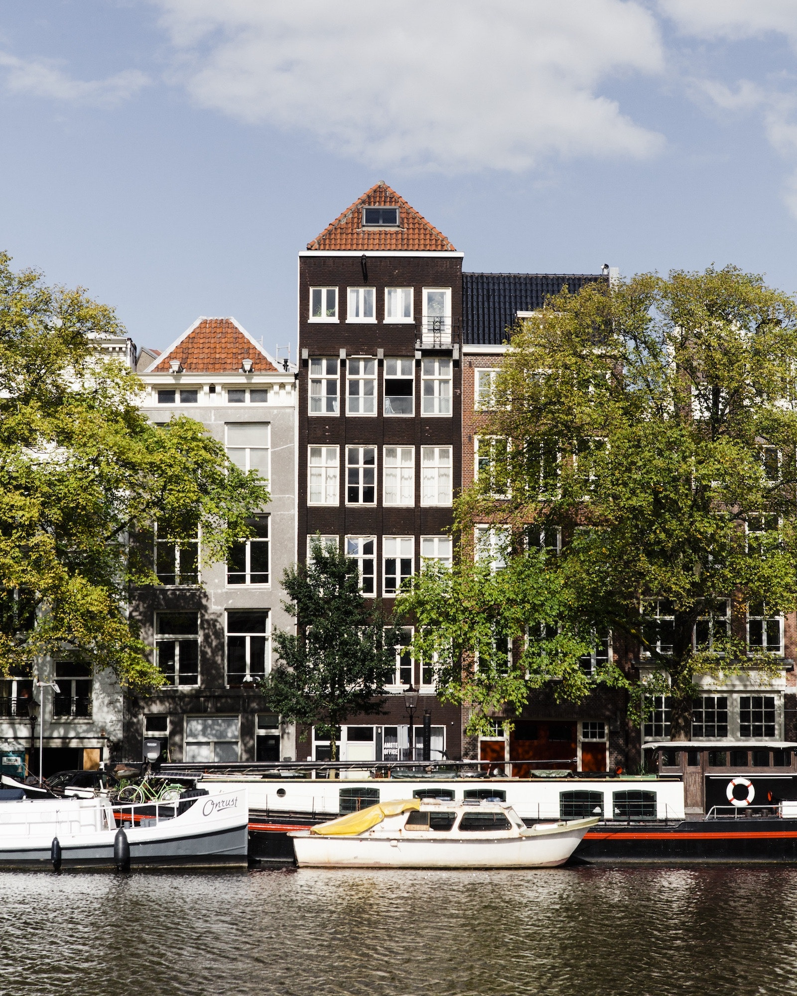 Tall, narrow houses—most built during the Netherlands' 17th-century Golden Age—line Amsterdam's canals.