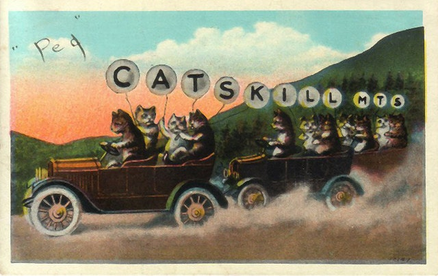 A classic pun from the Catskill mountians, date unknown