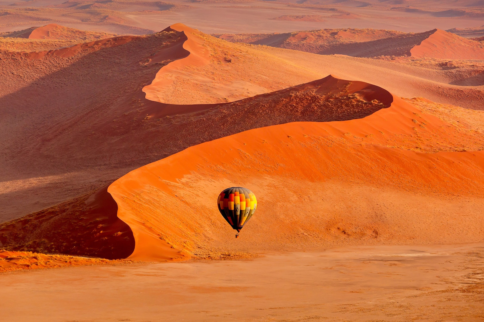 Sossusvlei is a salt and clay pan in the southern part of the Namib Desert.