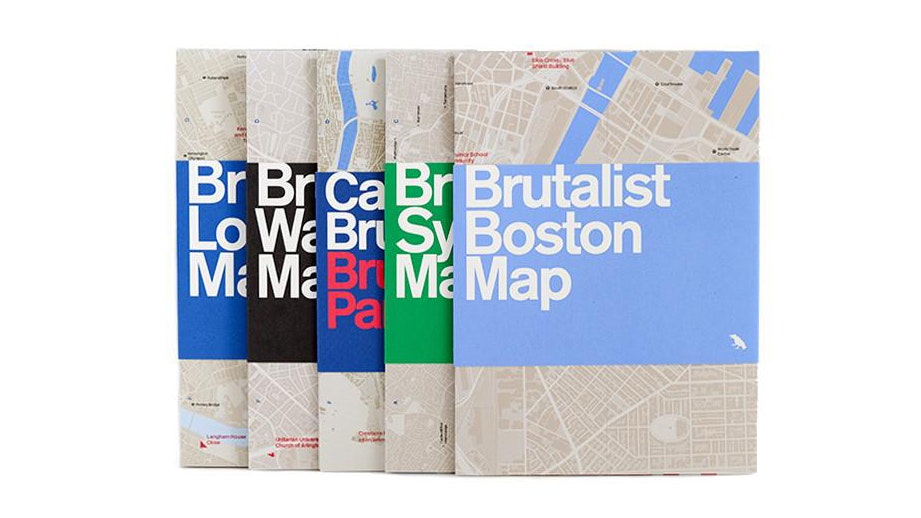 Blue Crow's set of five brutalist maps—for Boston, Sydney, London, Paris, and Washington—runs £34 (about $46).