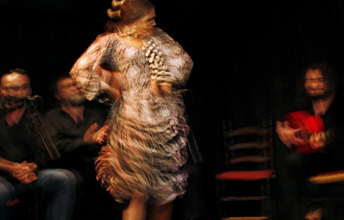 Flamenco consists of cante (song), baile (dance), toque (guitar), and percussive elements.