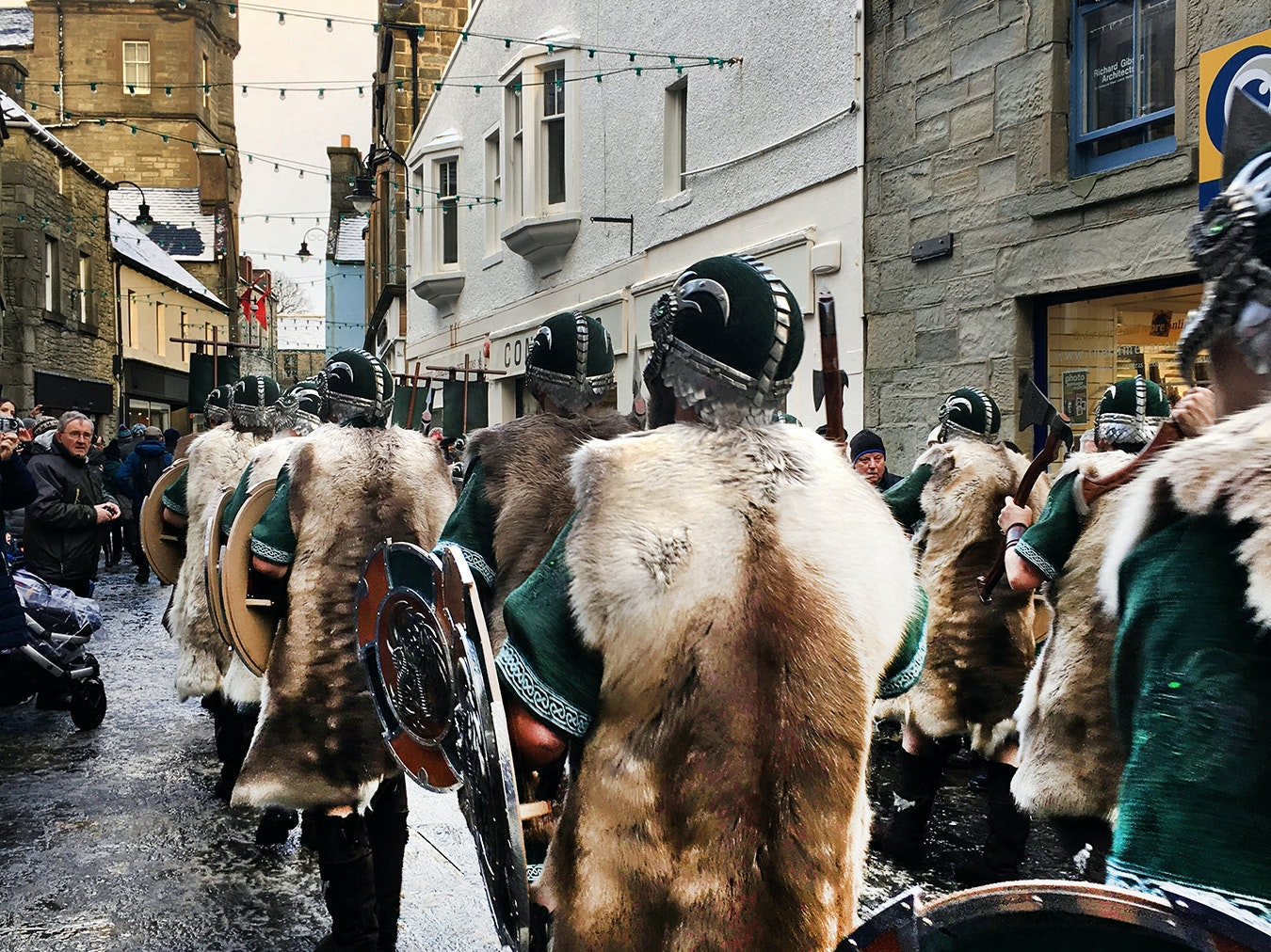 Viking-style armor is designed as far as two years in advance of the festival.