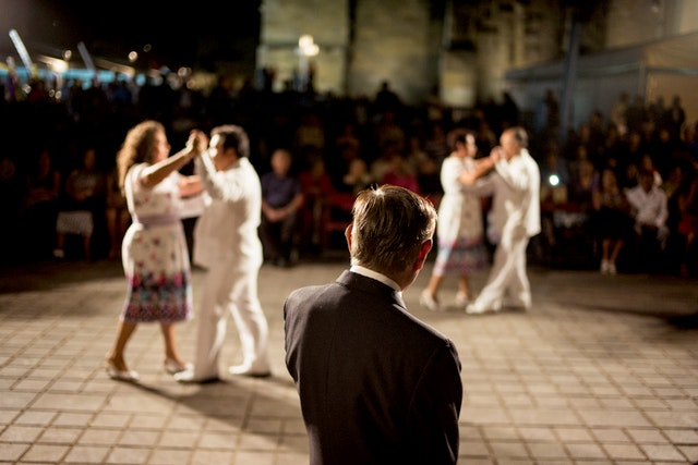 Every week, locals take to the Zócalo for the danzón, a gathering where people dance and listen to live music.