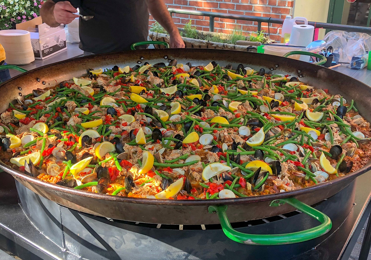 Dig into some Basque-style paella, served outside Boise's Basque Market on select days.