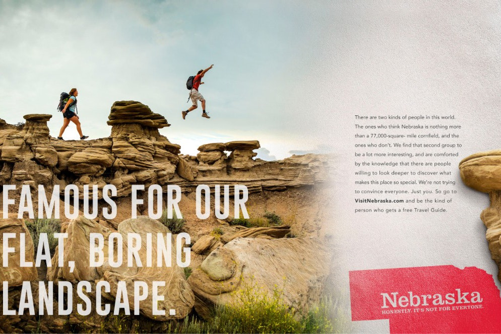 Toadstool Geologic Park is featured in one of Visit Nebraska's new ads.
