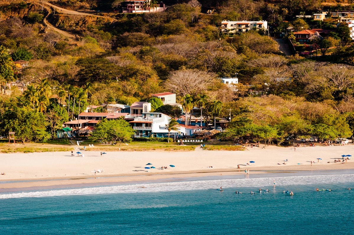 Witch's Rock Surf Camp in the busy surf town of Tamarindo is the perfect spot to go it alone—or to make new surfer friends.