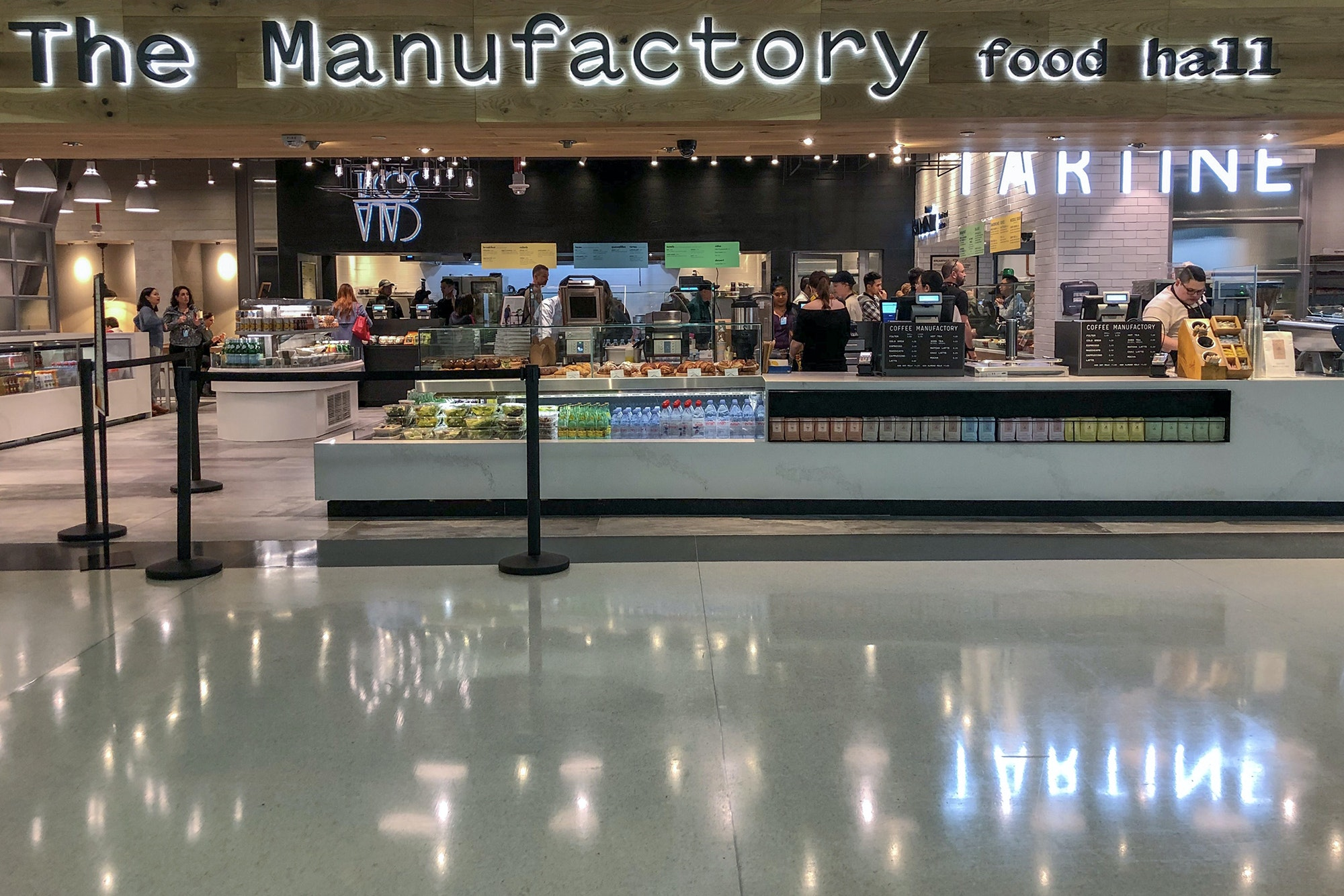 Three of San Francisco's most popular eateries have teamed up for an airport food hall.