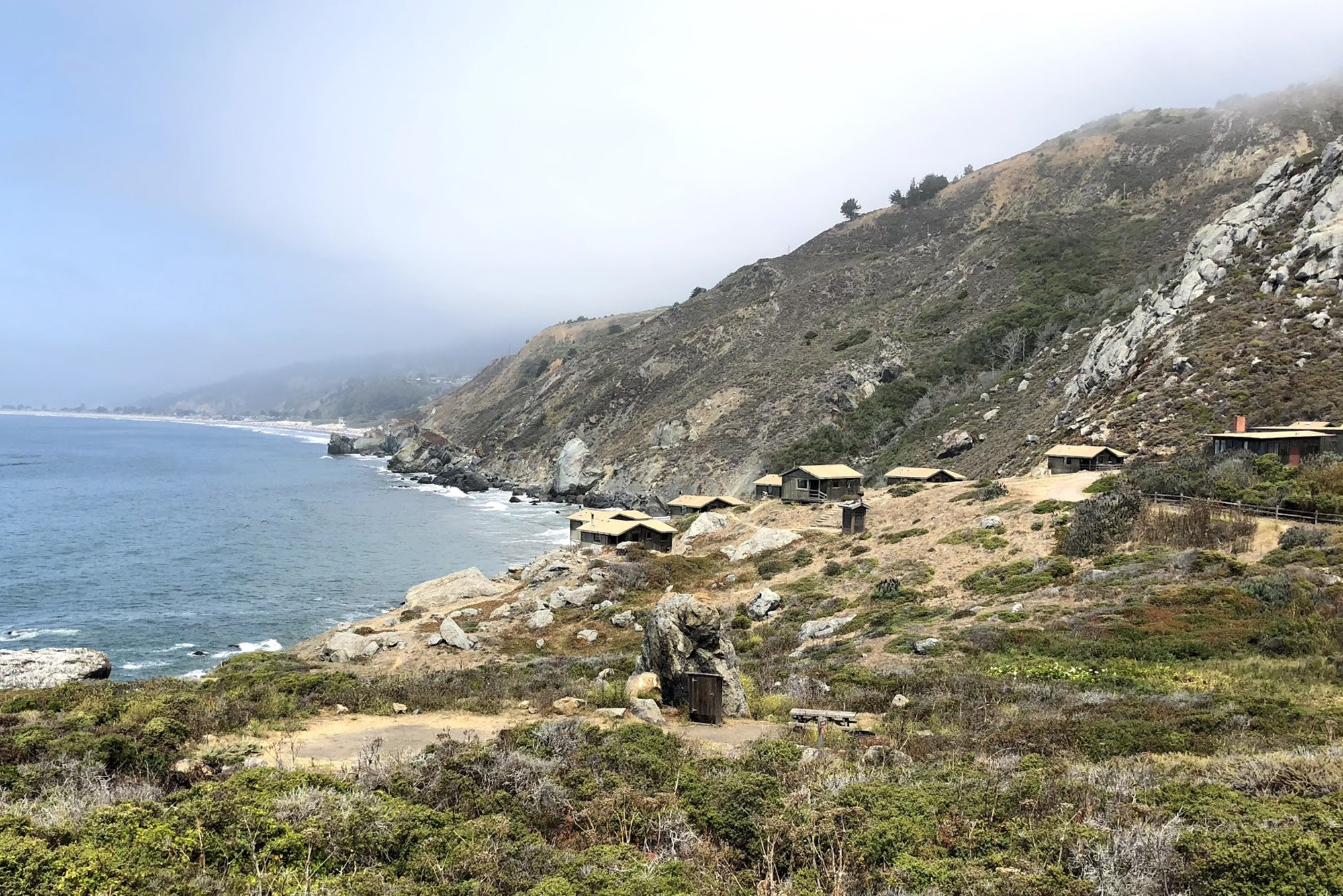 The Steep Ravine Cabins in Marin County are steps from the beach and tidal hot springs.