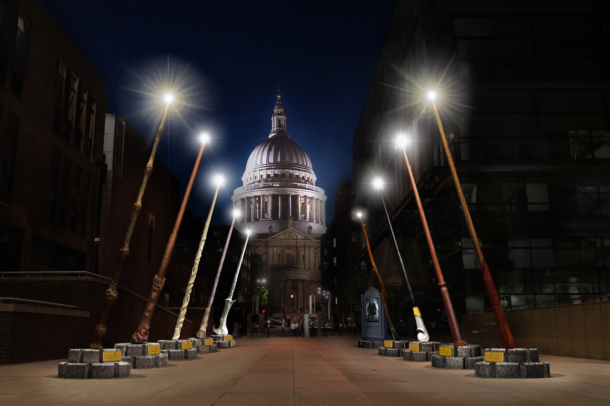 London's latest public art installation will delight Harry Potter fans.