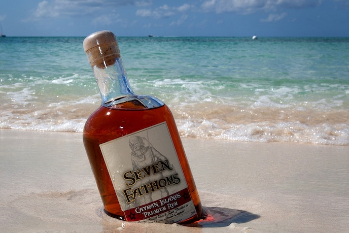Cayman Spirits Co. uses the movement of the ocean's waves to help agitate and age its rum.
