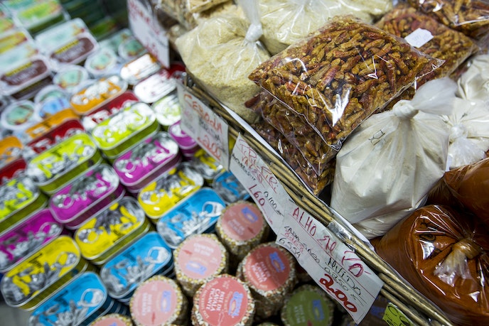Stock up on local fare alongside Lisboetas at classic grocery store Perola do Arsenal.