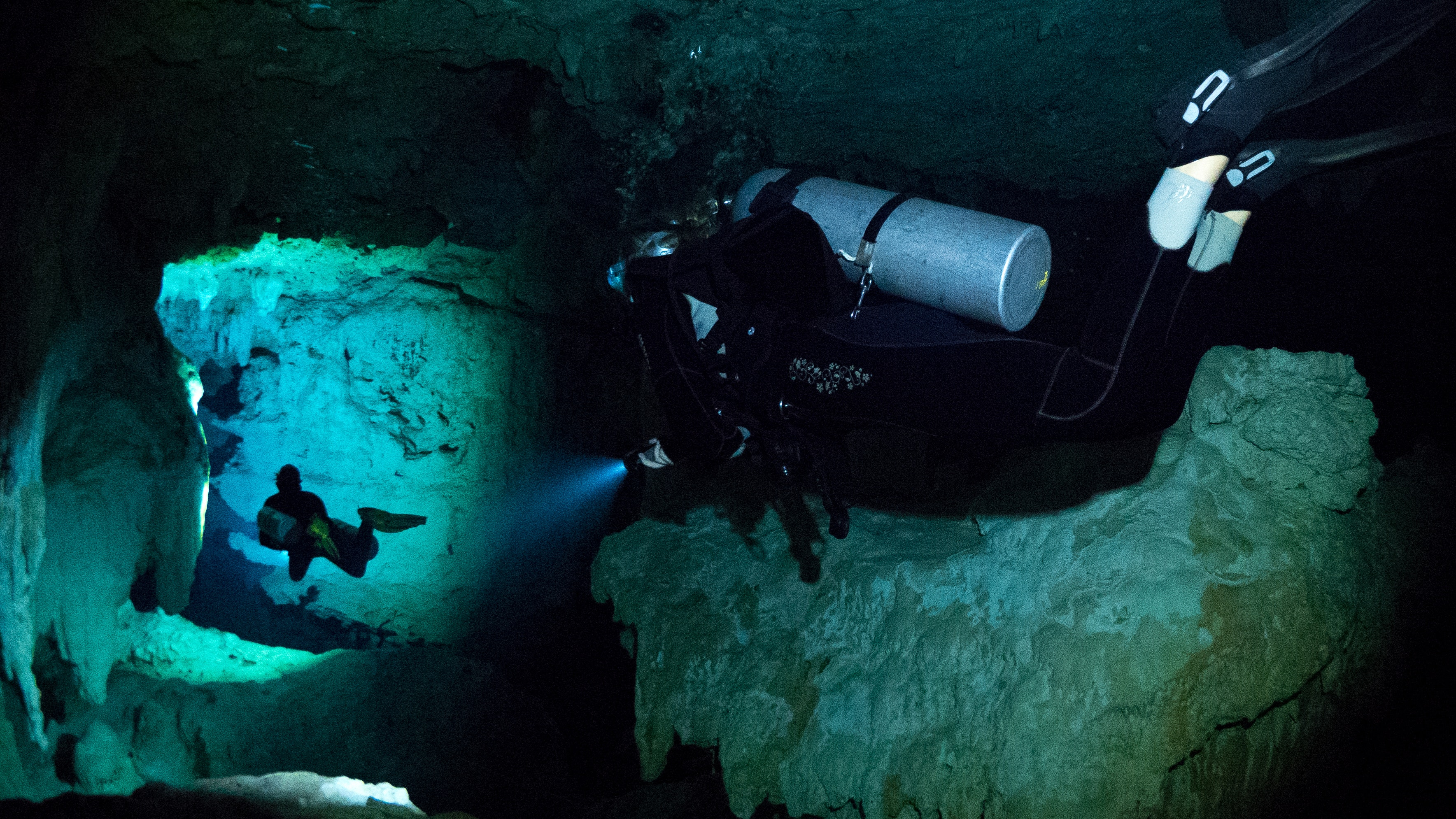 Diving through narrow passages and tight spaces requires a separate skill set.