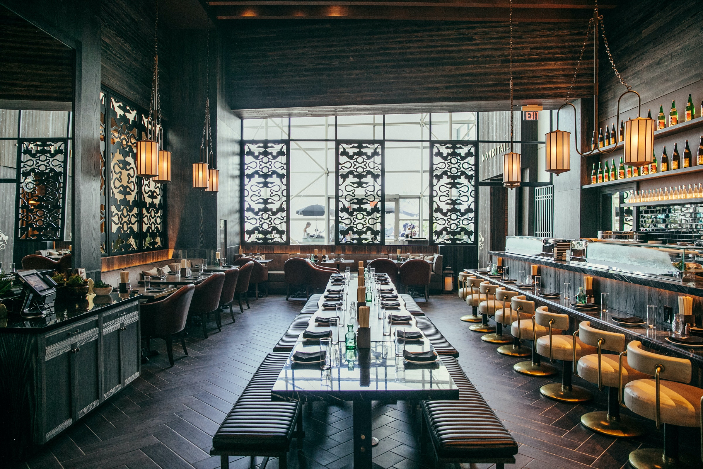 Dine at upscale Asian eatery Monkitail in the groovy Diplomat Beach Resort Hollywood in Florida, which is part of the Curio Collection.