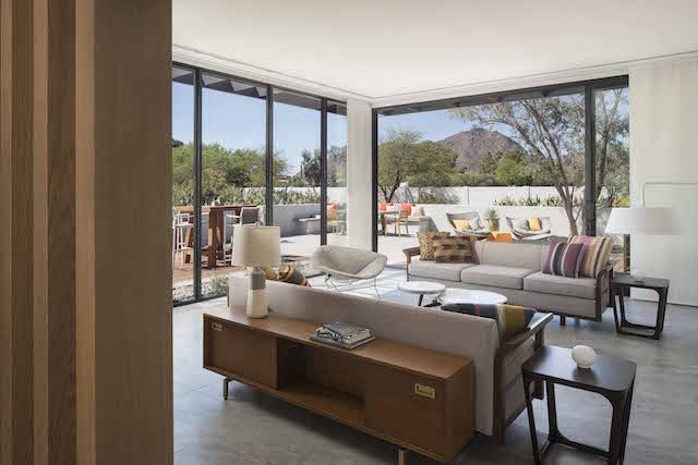 A guest room at the Andaz Scottsdale Resort & Spa