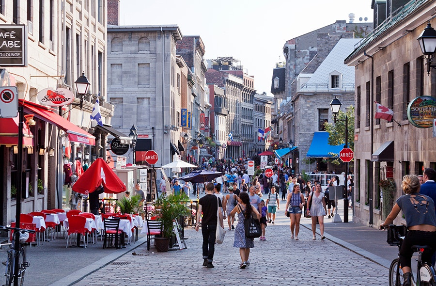 French-speaking Montreal is home to clubs, vintage boutiques, and striking architecture.