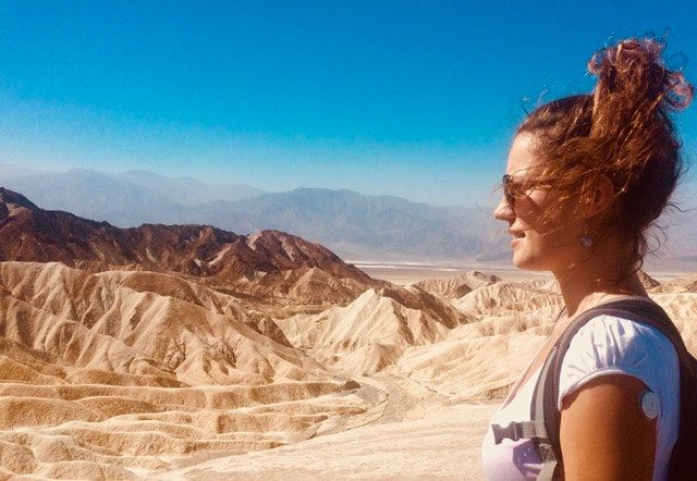 Laura Pandolfi explored California's Death Valley wearing a FreeStyle Libre sensor from Abbott Diabetes Care Inc. The device automatically measures glucose readings without fingersticks.