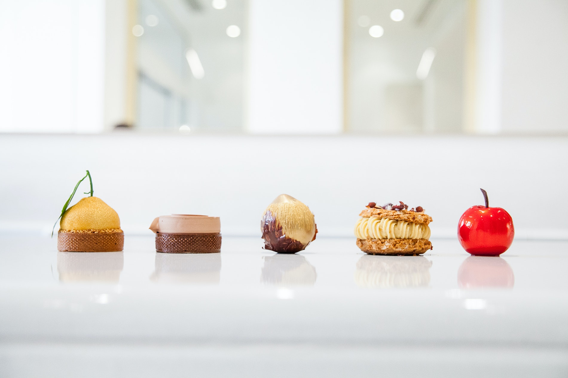 World-renowned pastry chef Cédric Grolet prepares the French sweets at La Pâtisserie du Meurice.