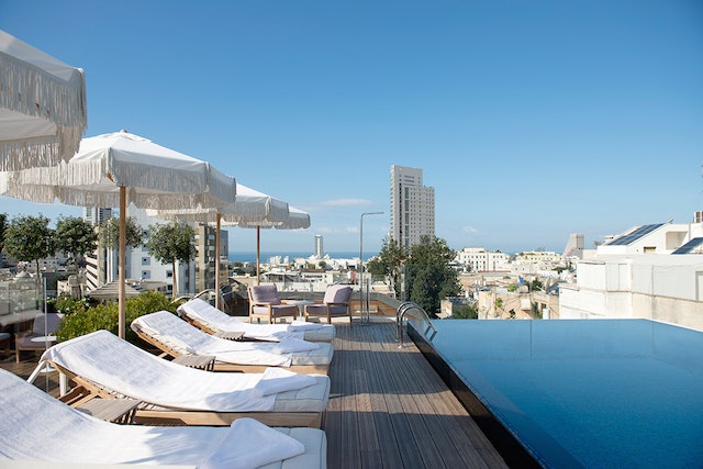 The Norman's rooftop pool