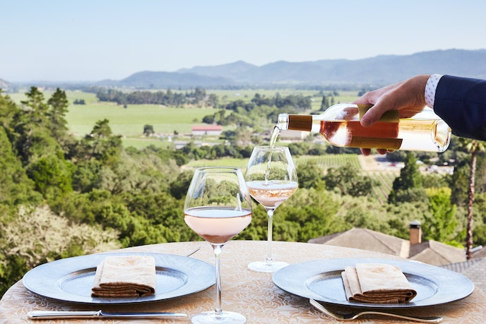 The Michelin Guide gives one star to the food at Auberge; we give its view all three.