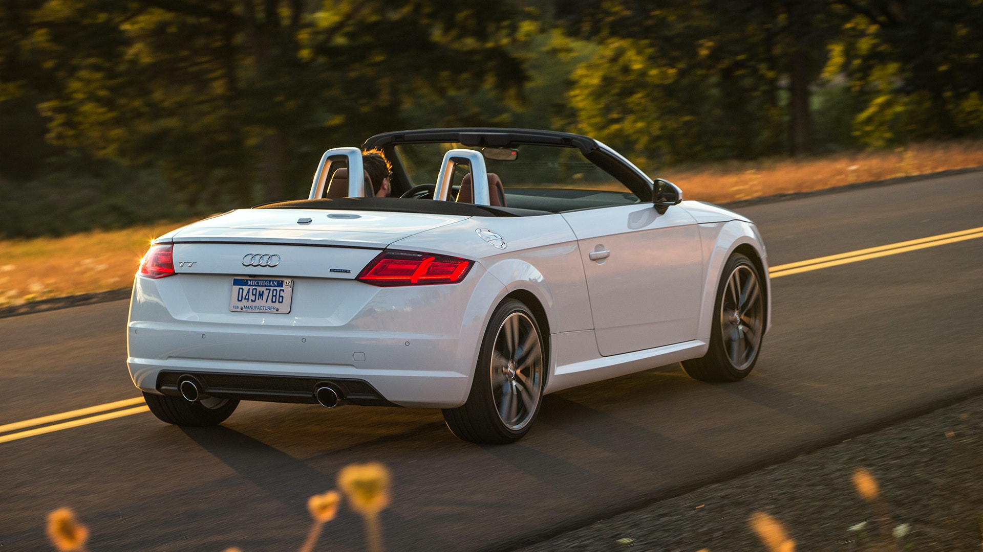Audi's $47,450 TT Roadster is included in The Jefferson's golden leaf-peeping package.