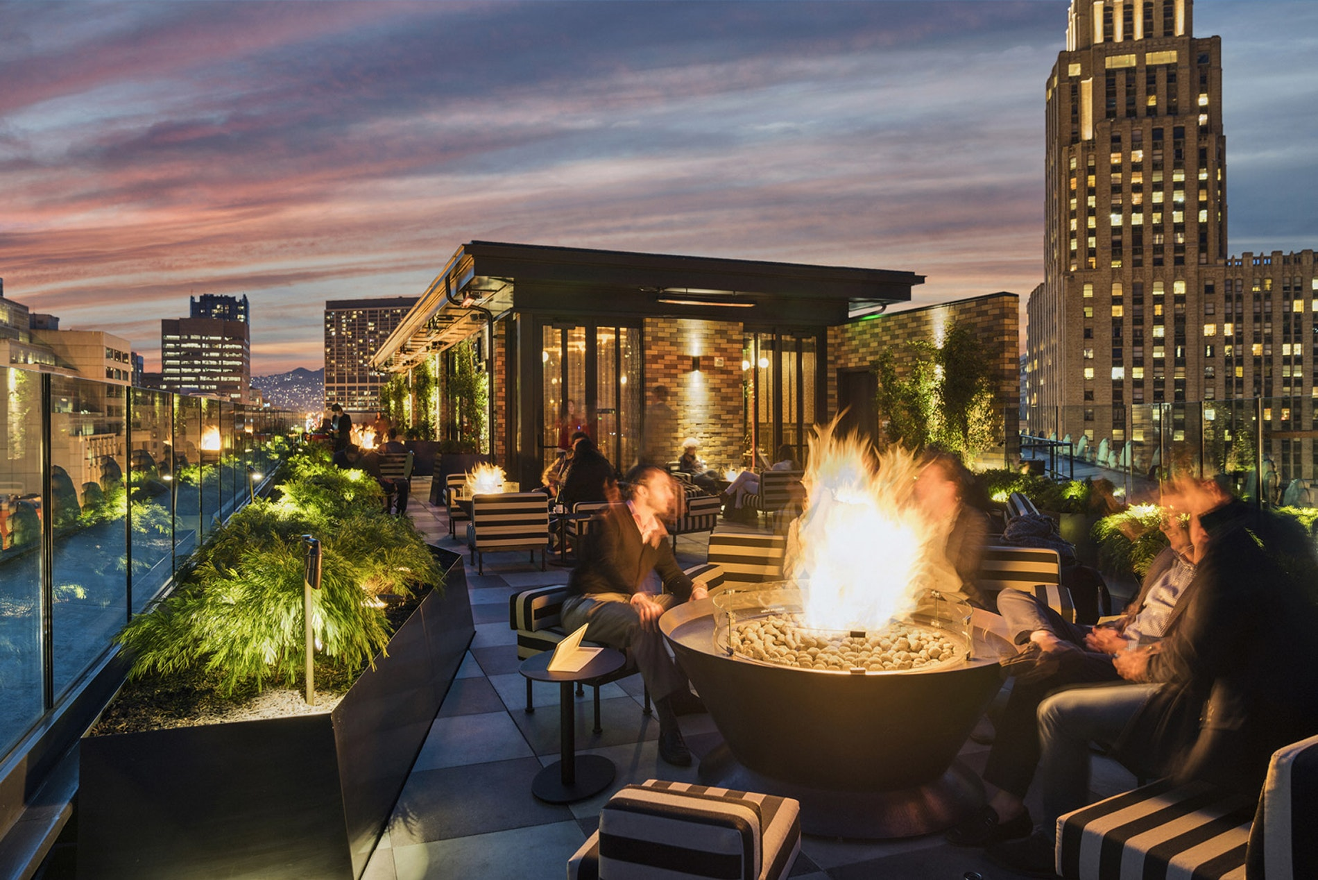 Proper, indeed: Dreamy rooftop views and a chic crowd have made Charmaine's a hit.