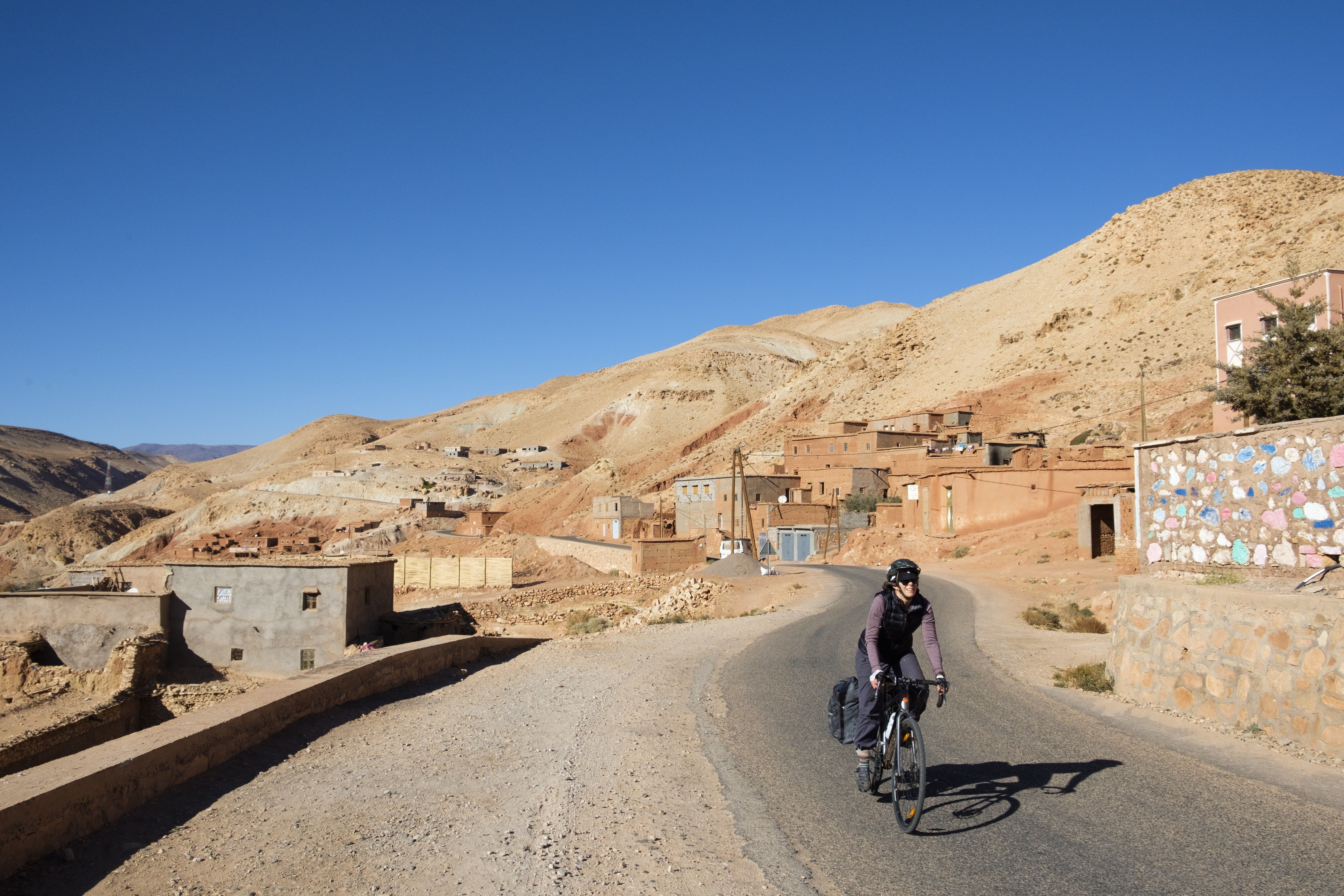 Pete and Celia cycled in a loop of the country starting in Marrakech.