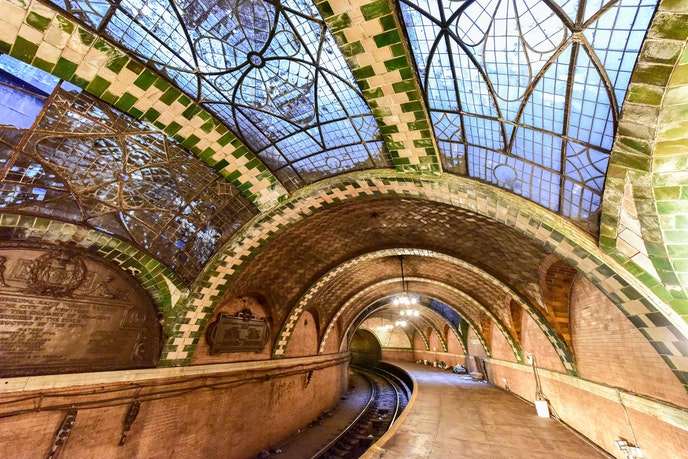 Manhattan's first subway station featured vaulted tile ceilings by Spanish engineer and designer Rafael Guastavino.