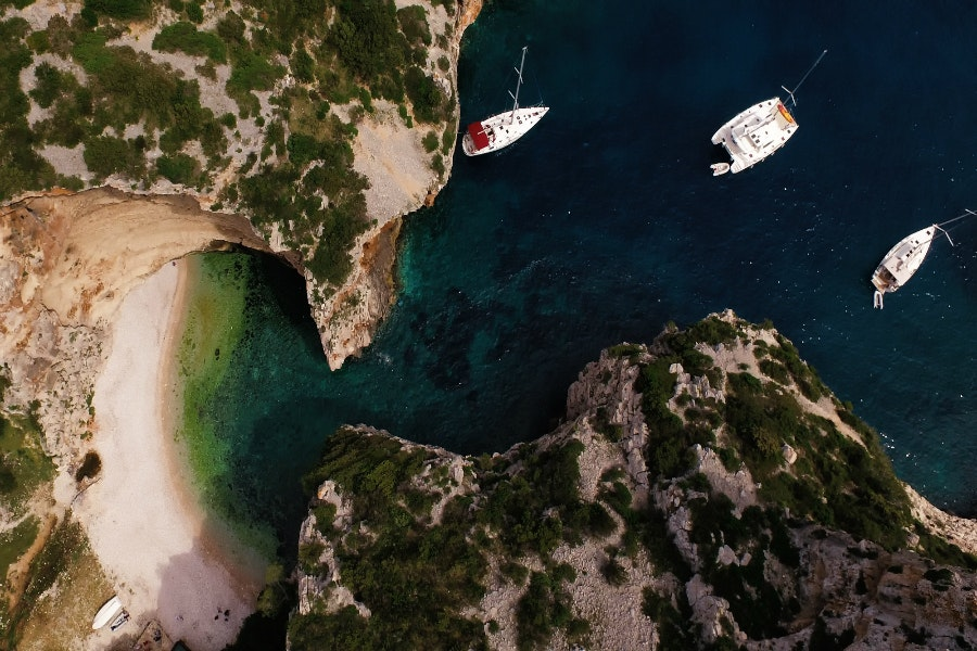 The remote island of Vis beckons with tucked-away beaches, sleepy fishing villages, and local wine and seafood.