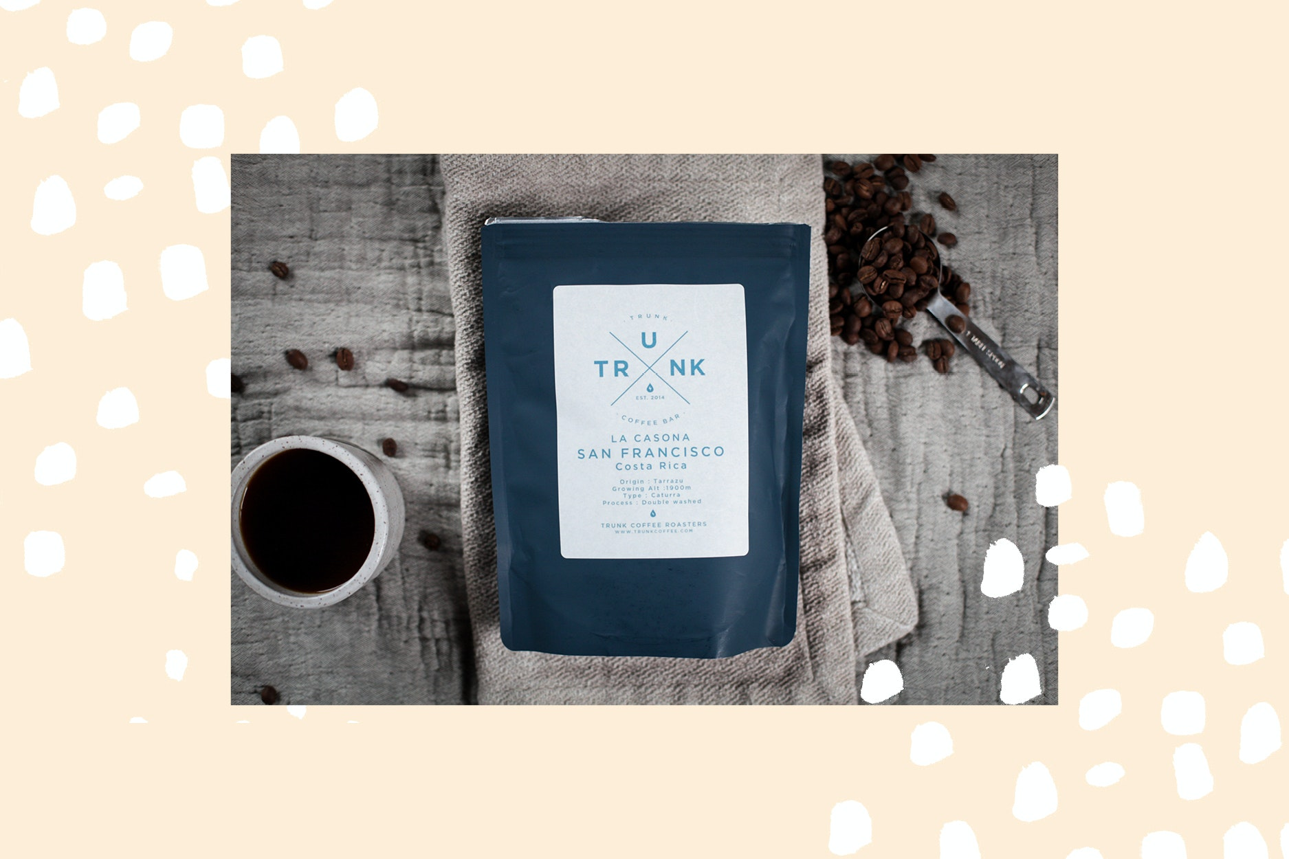 Coffee comes to your door with a subscription to Modern Recreation.