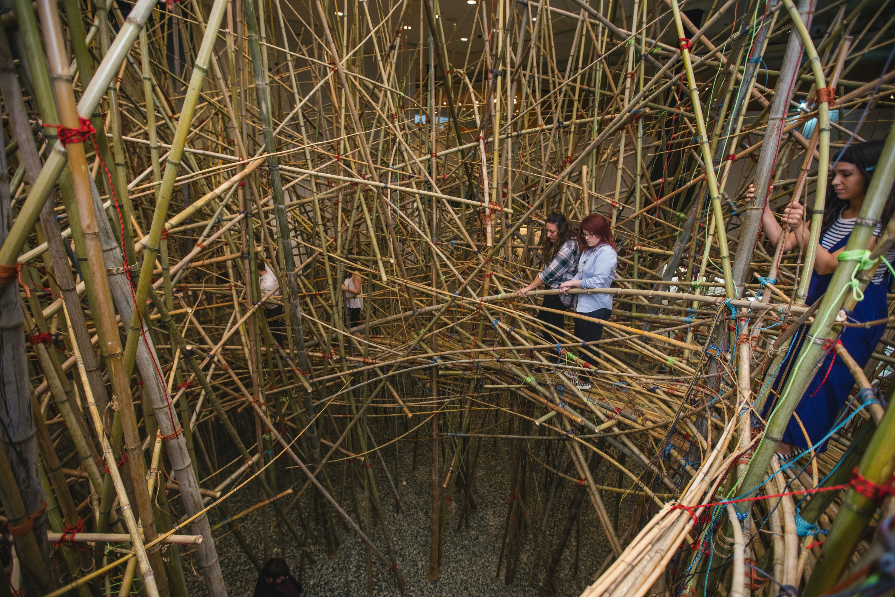 "Mike + Doug Starn, ""Big Bambú"" installation view at the Museum of Fine Arts, Houston"
