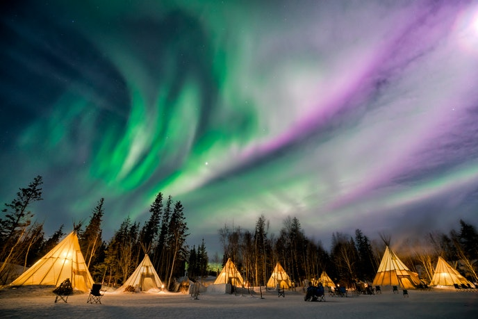 The Yellowknife area in Canada's Northwest Territories is located directly beneath the aurora oval.
