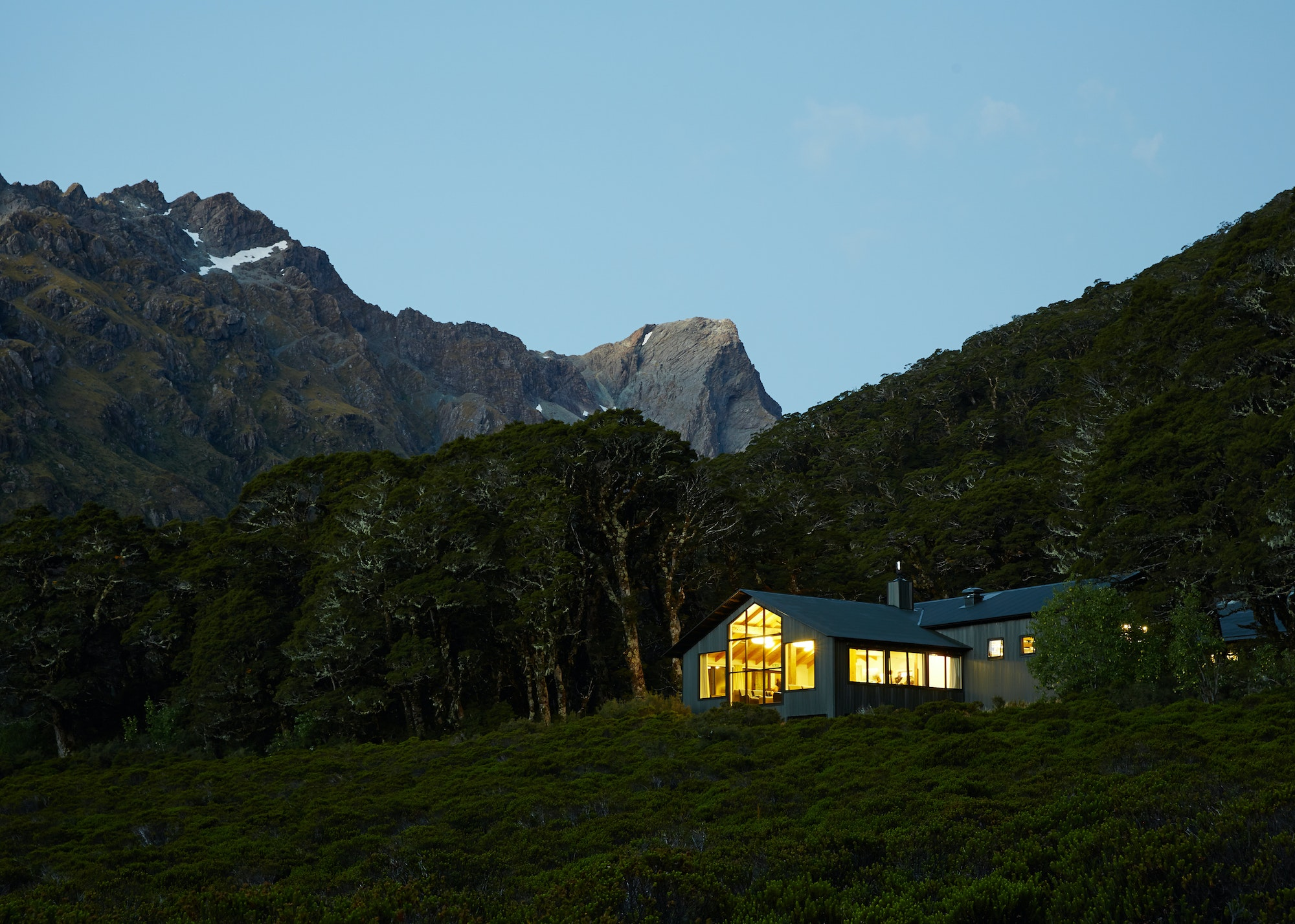 Located along the Routeburn Track, Lake Mackenzie Lodge comes complete with a restaurant, bar, and—best of all—hot showers.
