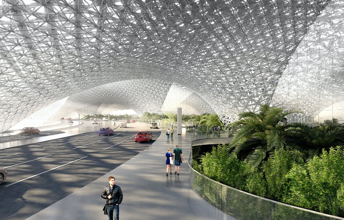 The ambitious new airport was expected to handle some 66 million passengers annually.