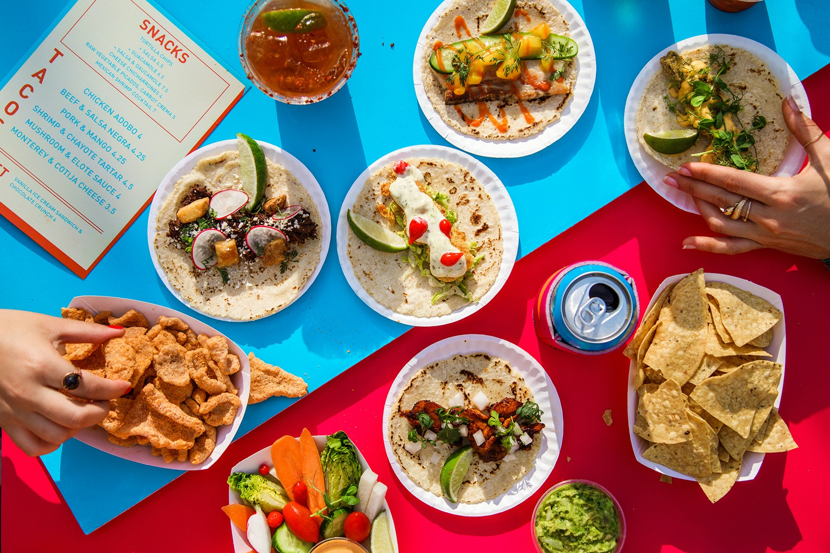 Danny Meyer's latest venture serves a variety of tacos, cocktails, and snacks.