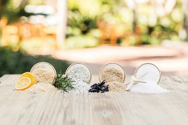 A sampling of the salts harvested at Terranea Resort