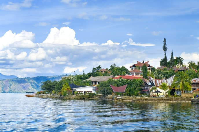 Indonesia wants to make it easier to get to places like Lake Toba on the island of Sumatra.