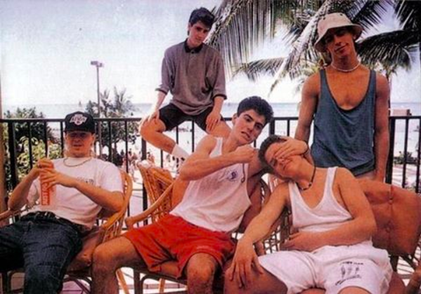 New Kids on the Block when they were young. The boy band is back all grown up and performing in Chicago this month.