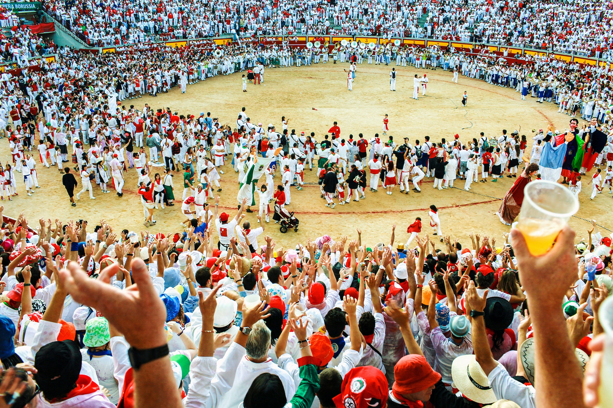 Spain's San Fermín festival attracts approximately 1 million visitors each year between July 6 and 14.
