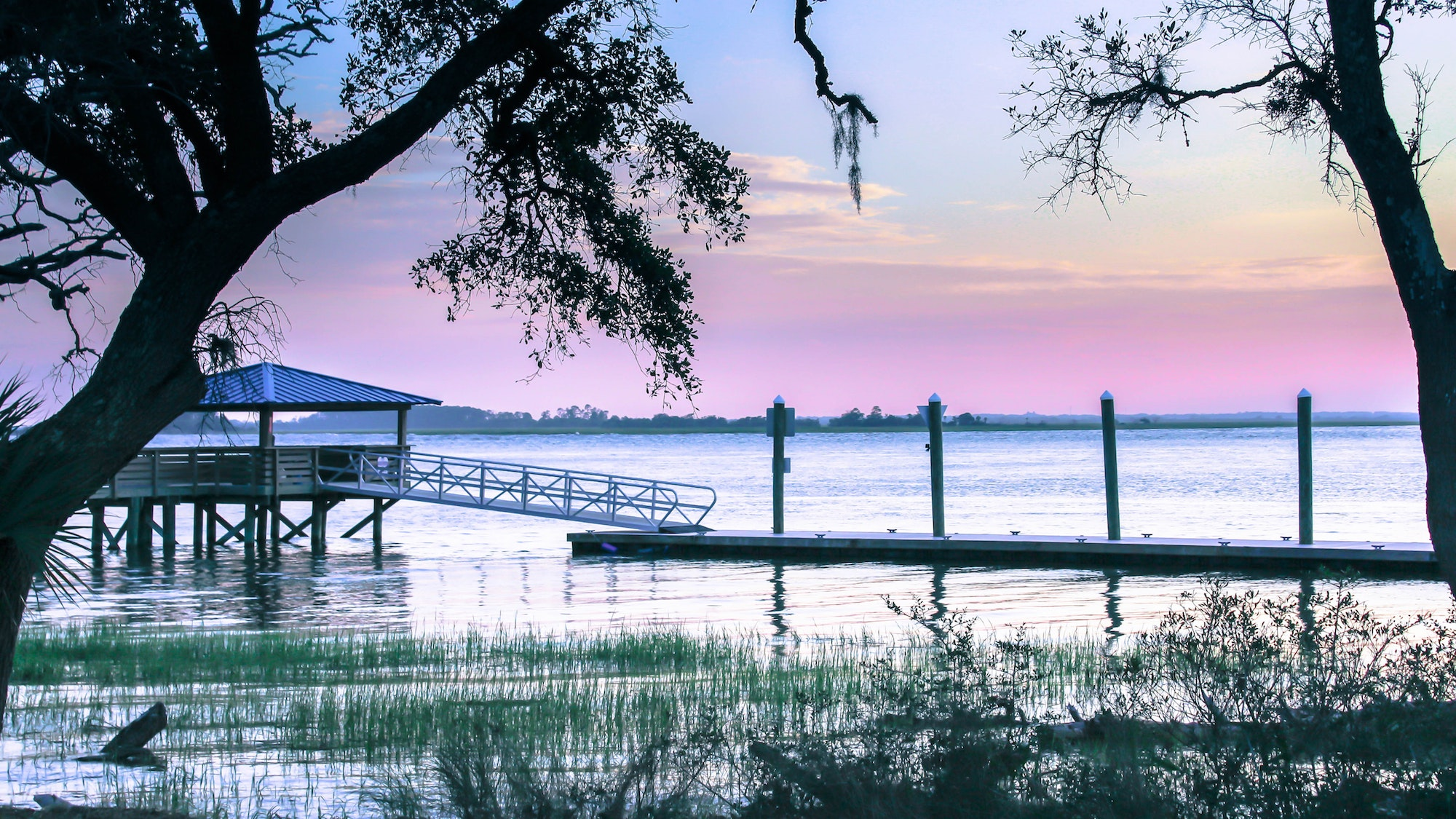 Spend evenings strolling the waterfront on Daufuskie Island.