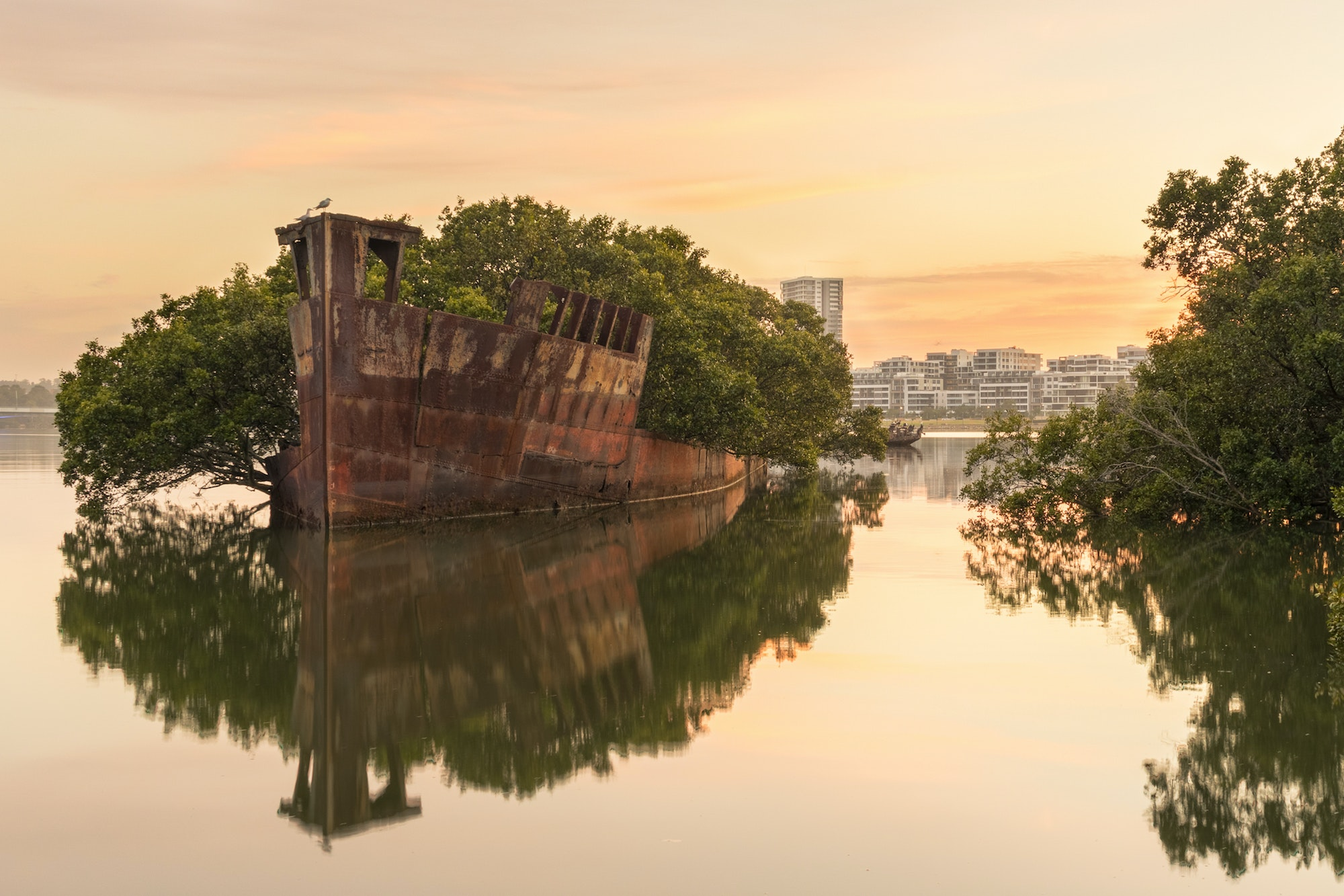 Homebush Bay is located on the south bank of the Parramatta River in the Inner West of Sydney, Australia.