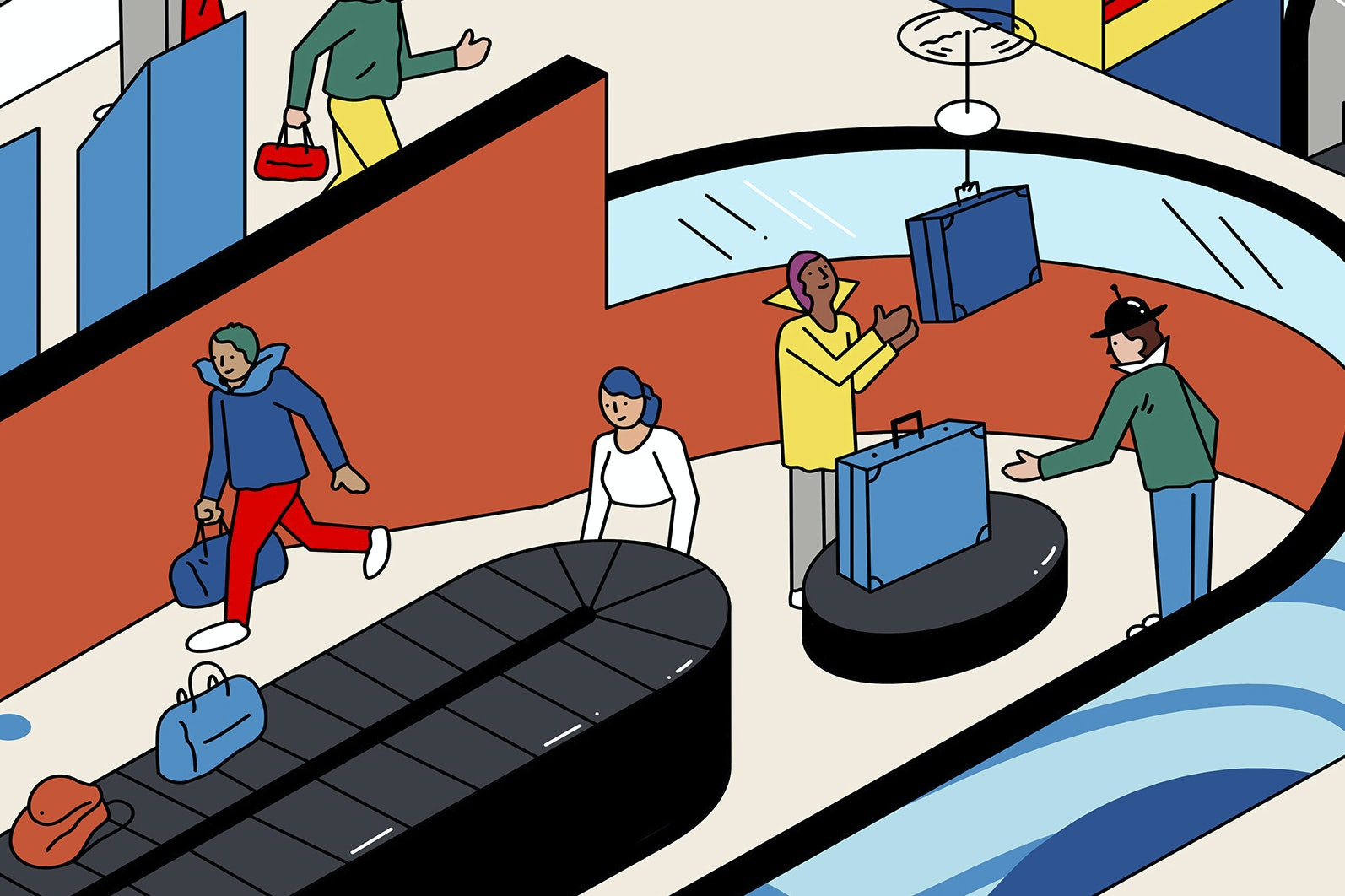 Radio-frequency identification (RFID) tags and monitoring apps to track bags are ensuring fewer lost bags at the airport.