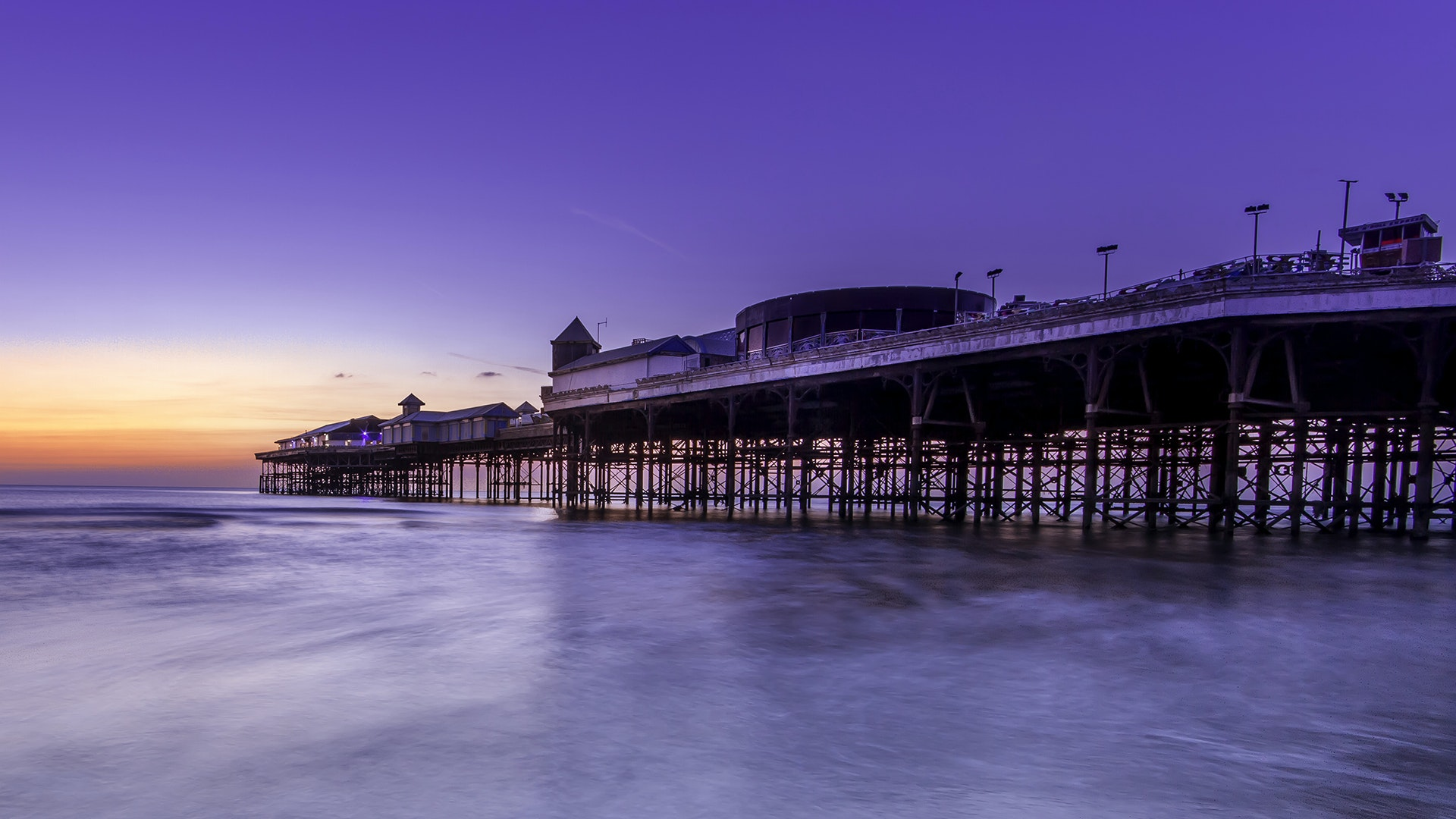 Also on the WMF list, the historic Central Pier in Blackpool, England, built in 1868.